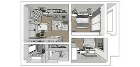 现代北欧室内装修场景