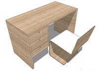 现代电脑桌椅组合