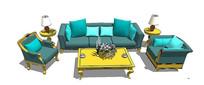 现代欧式沙发成套模型 skp