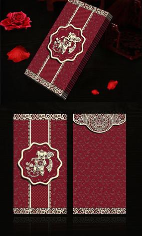 猪年创意时尚大气喜庆红包模板