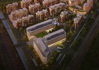 住宅区建筑景观效果图