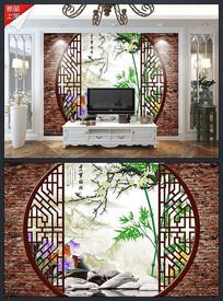 3D木雕处寒梅娇拱门背景墙