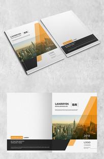 城市黄色商务封面