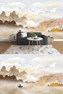 大理石纹山水石纹背景墙