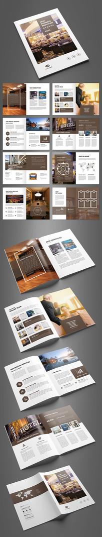大气酒店管理画册设计模板 AI