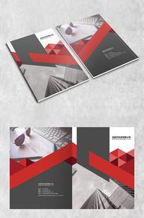 红色三角商务封面