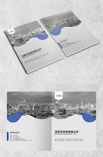 灰色建筑商务封面