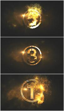 火焰数字粒子5秒倒计时视频