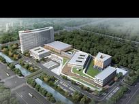 开发区医院建筑鸟瞰效果图