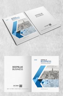 蓝色简洁个性商务封面