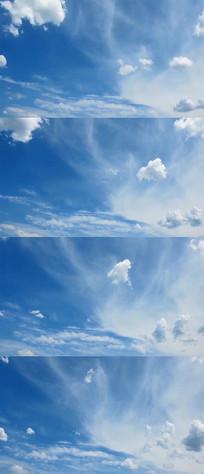 蓝天白云实拍视频素材