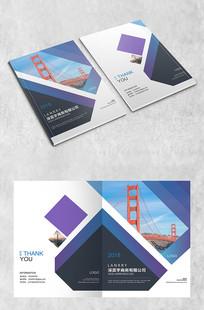 蓝紫大桥商务封面