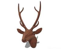 鹿头墙面装饰