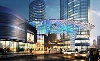 商城广场灯光效果图