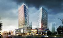 商城建筑透视图