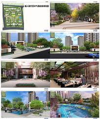 现代花园住宅小区