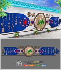 中国风廉政文化墙矢量图下载