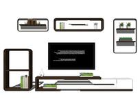 组合电视柜模型