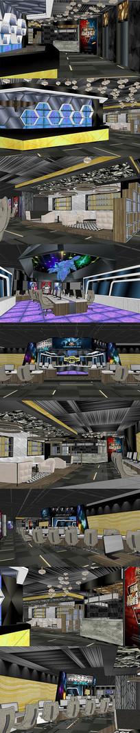 电影院大厅室内设计SU模型