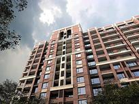 高层红砖住宅区建筑