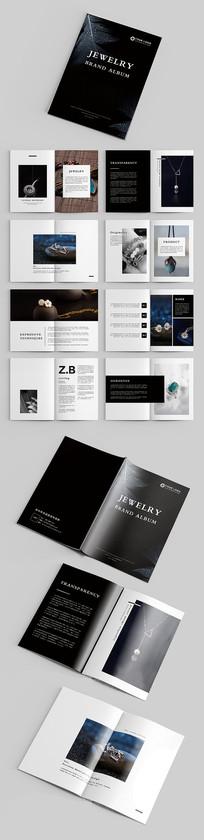 黑色时尚大气珠宝品牌宣传画册