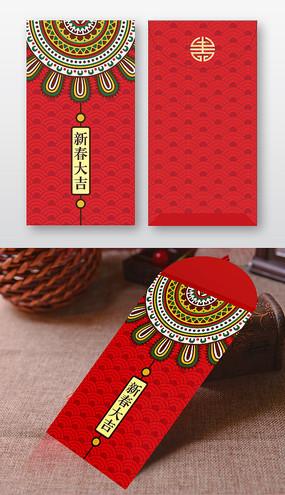 红色喜庆新春红包包装设计