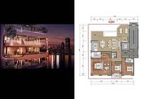 宽敞海景房户型图