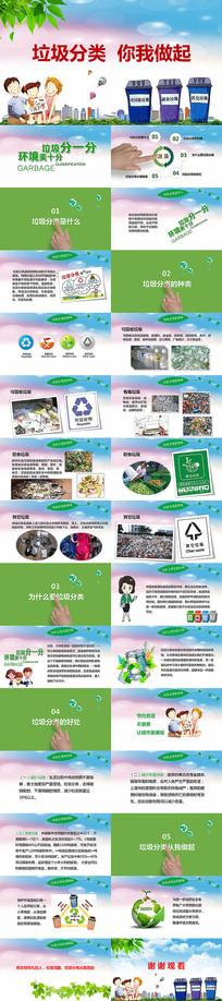 垃圾分类爱护地天环境PPT