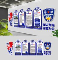 蓝色警队文化公安局警营文化墙