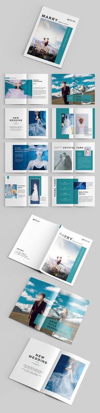 蓝色时装婚纱企业品牌宣传画册
