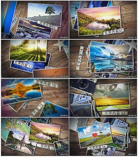旅游相册照片开场AE模板