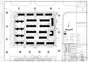 某住宅小区2号地块总平面图 dwg