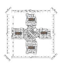 十字型高层住宅平面