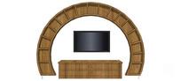 圆形电视背景墙柜设计