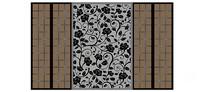 中式花纹壁纸背景墙
