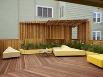 屋顶花园树池座椅