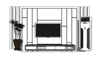现代白色电视背景墙