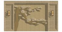 中式浮雕背景墙
