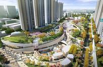 城市公园鸟瞰图