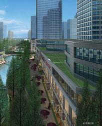 城市建设设计带行公园效果