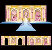 创意婚庆舞台背景板