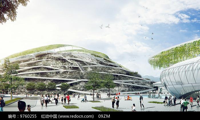 垂直崖壁公园效果图图片