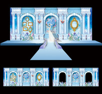 个性婚庆舞台背景板