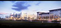 国际化商城灯光建筑模型
