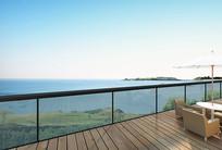 海边屋顶花园透视图 JPG