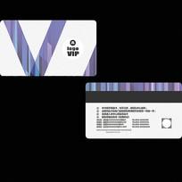简约紫色会员卡设计模板