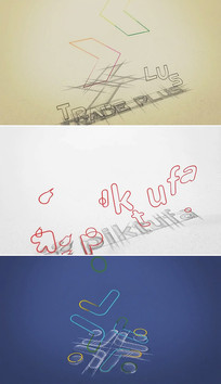 建筑图纸标志构建绘制片头模板