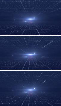 科技空间线条循环背景视频