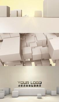 立方体方块动画ae模板