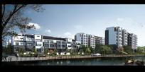 三层及多层住宅小区建筑效果图